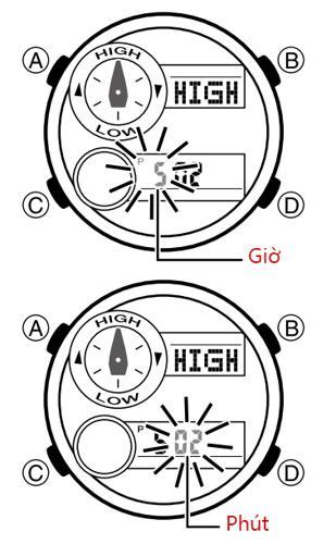 Cách Dùng Đồng Hồ G-Shock GAX-100: Thủy Triều, Moon Data, Nhiệt Kế Điều Chỉnh Triều Cường