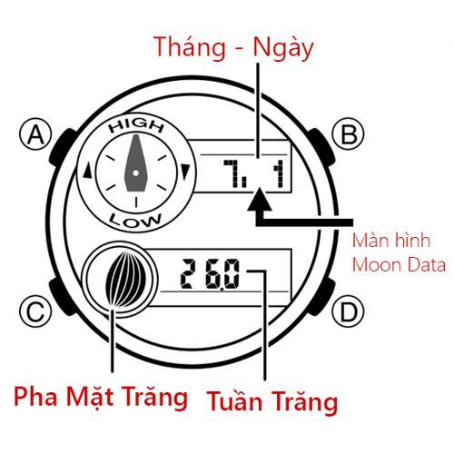 Cách Dùng Đồng Hồ G-Shock GAX-100: Thủy Triều, Moon Data, Nhiệt Kế Dữ Liệu Trăng
