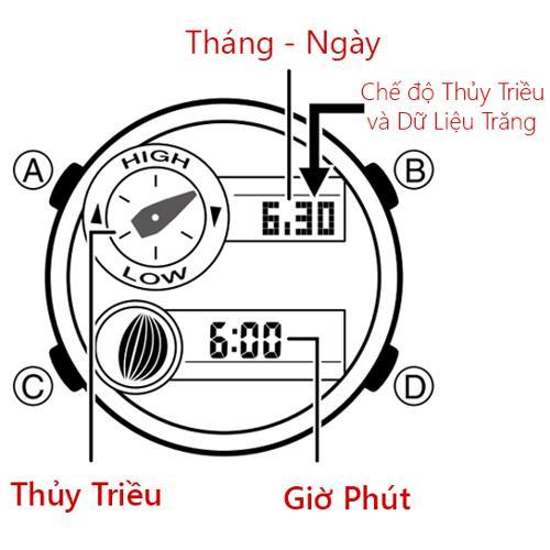 Cách Dùng Đồng Hồ G-Shock GAX-100: Thủy Triều, Moon Data, Nhiệt Kế Đọc Thủy Triều