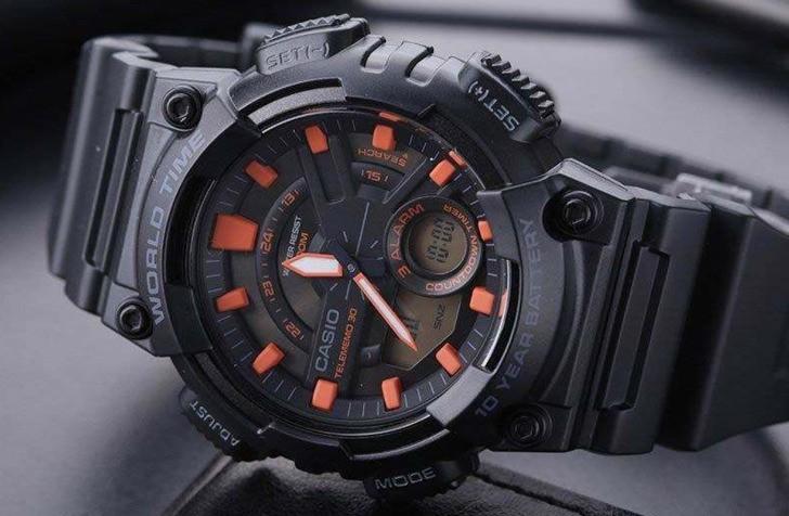 Đồng hồ Casio AEQ-110W-1A2VDF giá rẻ, siêu chức năng tiện ích - Ảnh 3