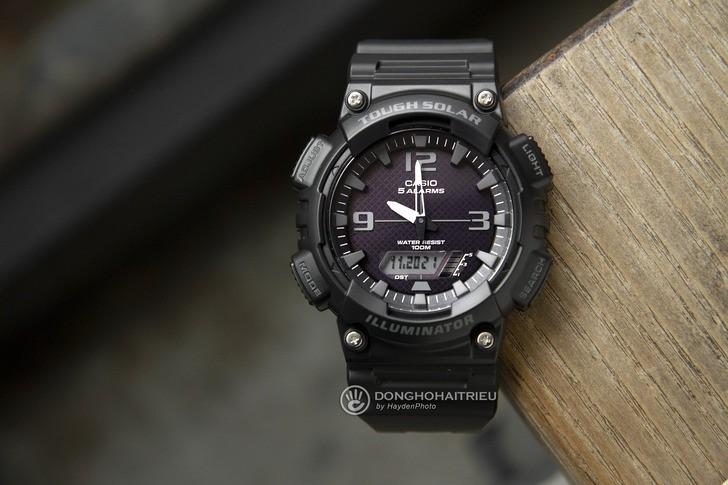 Đồng hồ Casio AQ-S810W-1A2VDF: Máy Solar hiện đại với giá rẻ - Ảnh 1