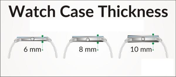 Case Diameter Là Gì? Case Thickness Là Gì? Cách Chọn Size Đồng Hồ So Sánh Case Thickness