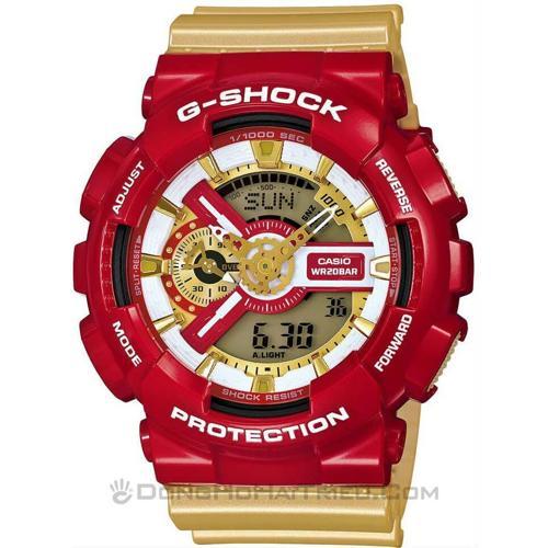 """Đánh Giá G-Shock """"Iron Man"""" GA-110CS-4ADR, Người Sắt Cực Ngầu SP"""