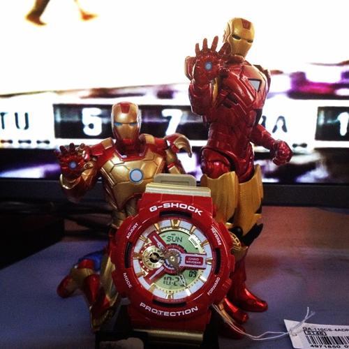 """Đánh Giá G-Shock """"Iron Man"""" GA-110CS-4ADR, Người Sắt Cực Ngầu Iron Man"""