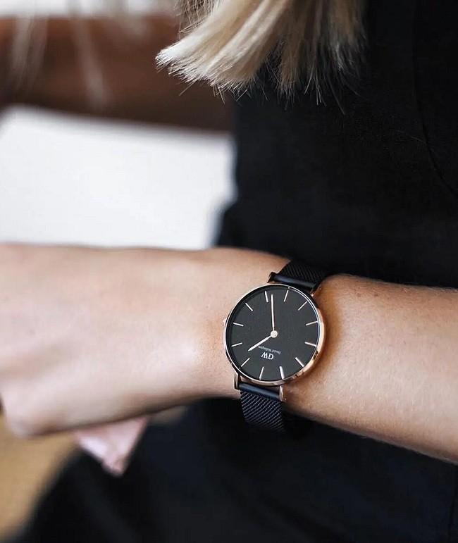 Đồng hồ Daniel Wellington DW00100246 dây lưới, size 28mm - Ảnh: 5
