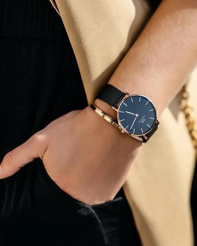 Đồng hồ Daniel Wellington DW00100246 dây lưới, size 28mm - Ảnh: 6