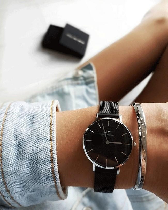 Đồng hồ Daniel Wellington DW00100246 dây lưới, size 28mm - Ảnh: 7