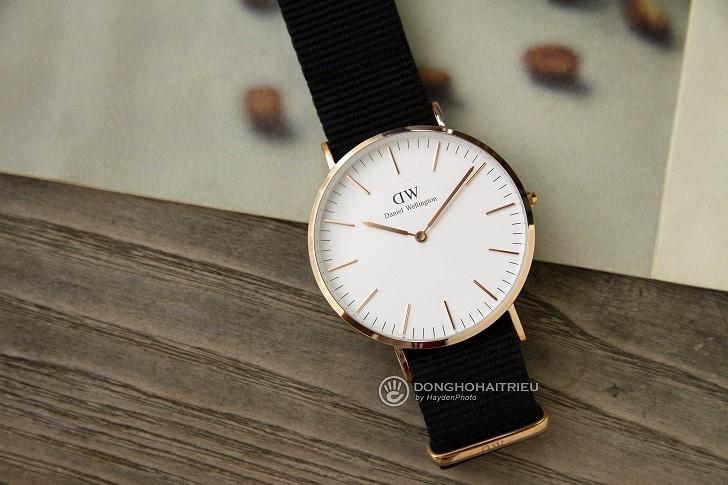 Đồng hồ Daniel Wellington DW00100257 dây vải trẻ trung - Ảnh 2