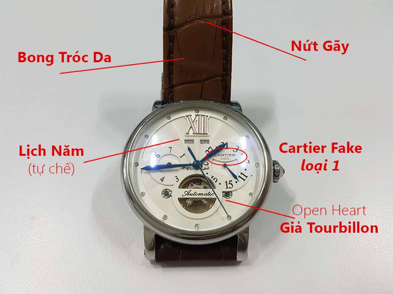Đồng Hồ Super Fake Là Gì? Đồng Hồ Fake Loại 1 Là Gì? Hình ảnh một chiếc đồng hồ Cartier Fake loại 1
