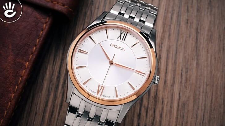 Đồng hồ Doxa D201RSV máy quartz Thuỵ Sỹ, chuẩn Swiss Made - Ảnh 2
