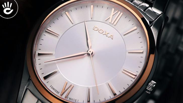 Đồng hồ Doxa D201RSV máy quartz Thuỵ Sỹ, chuẩn Swiss Made - Ảnh 3