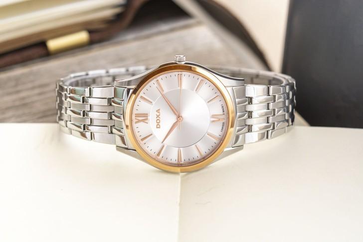 Đồng hồ Doxa D201RSV máy quartz Thuỵ Sỹ, chuẩn Swiss Made - Ảnh 8