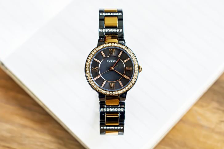 Đồng hồ Fossil ES4298: Vẻ đẹp sang trọng từ viên đá pha lê - Ảnh 1