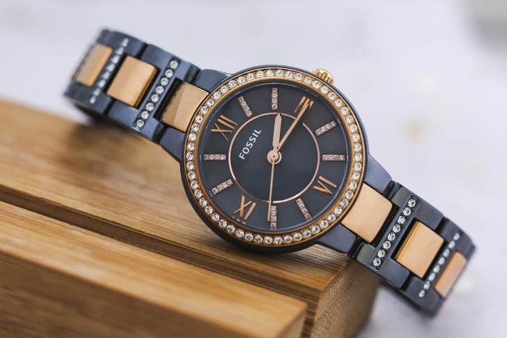 Đồng hồ Fossil ES4298: Vẻ đẹp sang trọng từ viên đá pha lê - Ảnh 2