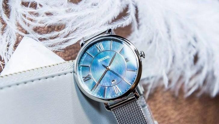 Đồng hồ Fossil ES4322 mặt số khảm trai vân nổi khác biệt - Ảnh 2