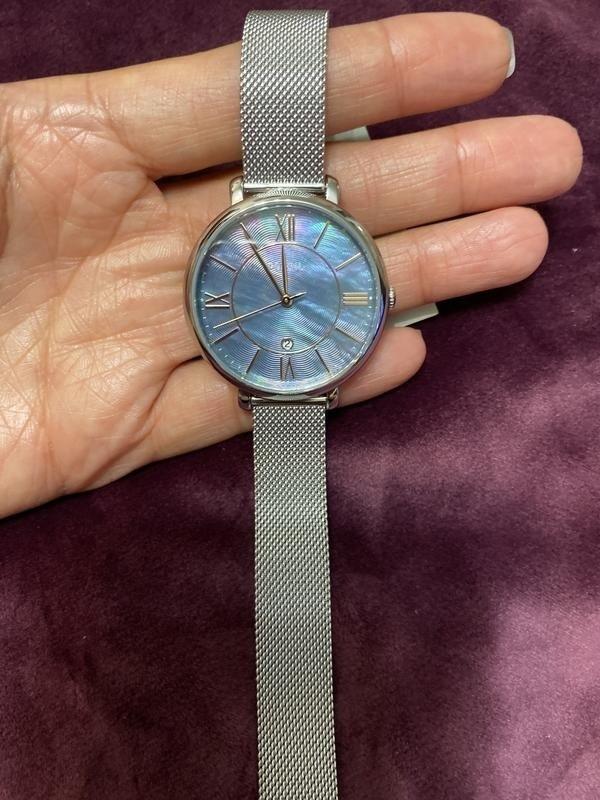 Đồng hồ Fossil ES4322 mặt số khảm trai vân nổi khác biệt - Ảnh 3