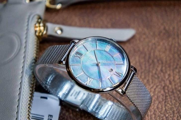 Đồng hồ Fossil ES4322 mặt số khảm trai vân nổi khác biệt - Ảnh 4