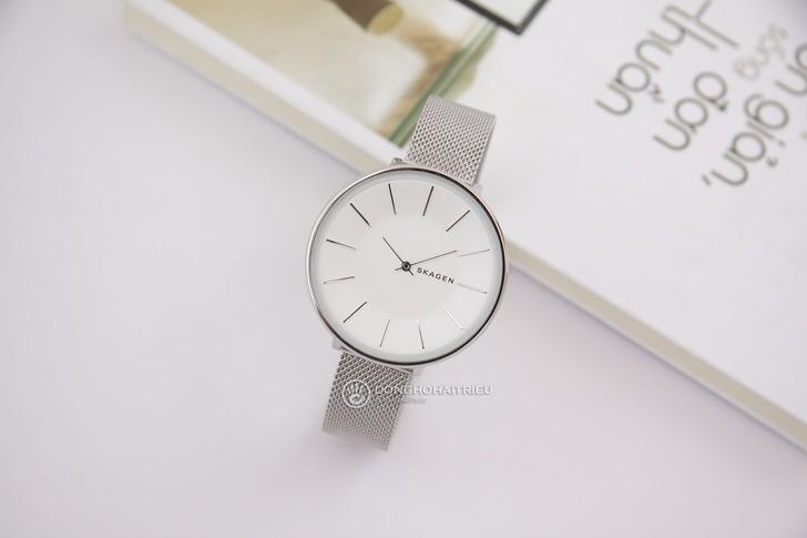 Đồng hồ nữ Skagen SKW2687 siêu mỏng, dây lưới thời trang - Ảnh 2