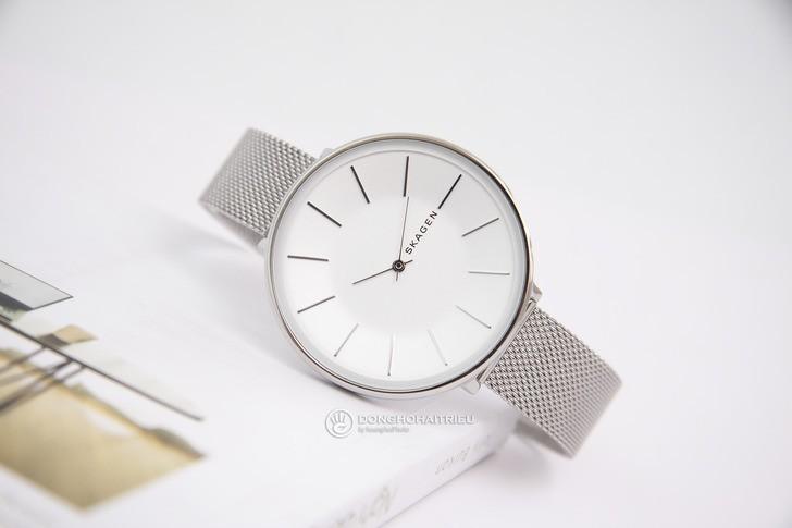 Đồng hồ nữ Skagen SKW2687 siêu mỏng, dây lưới thời trang - Ảnh 1