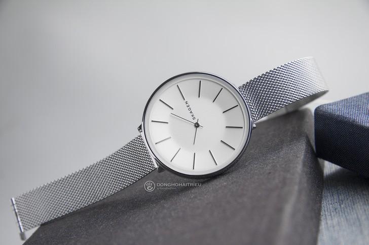 Đồng hồ nữ Skagen SKW2687 siêu mỏng, dây lưới thời trang - Ảnh 8