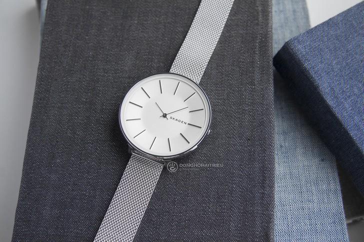 Đồng hồ nữ Skagen SKW2687 siêu mỏng, dây lưới thời trang - Ảnh 3