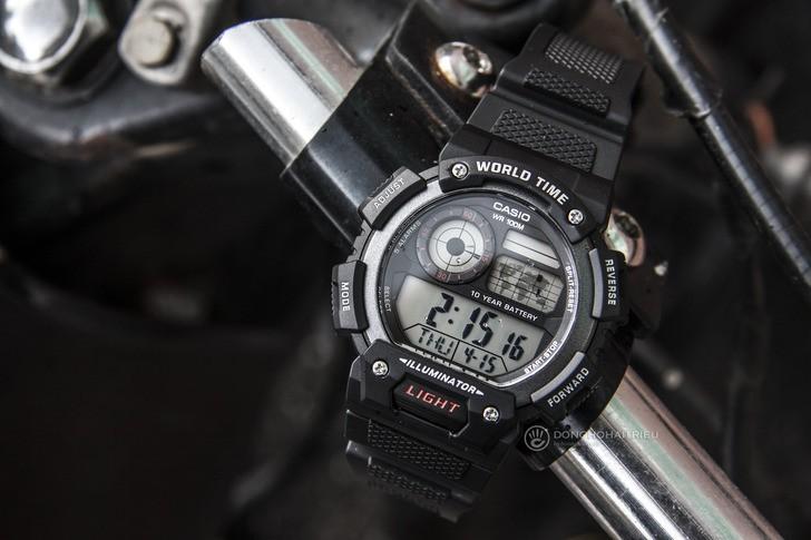 Đồng hồ Casio AE-1400WH-1AVDF giá rẻ, miễn phí thay pin - Ảnh 1