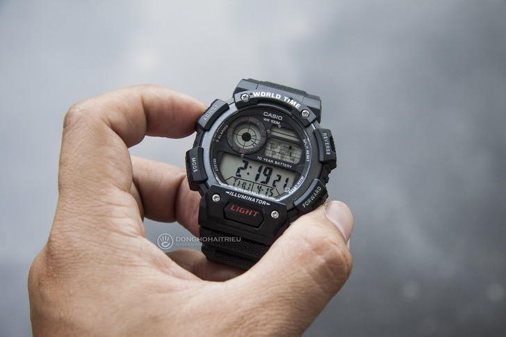 Đồng hồ Casio AE-1400WH-1AVDF giá rẻ, miễn phí thay pin - Ảnh 5