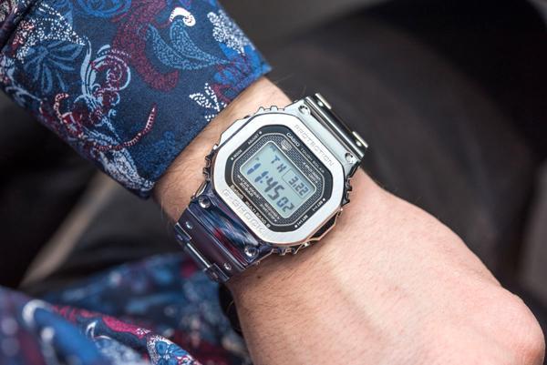 G-Shock GMW-B5000: Hồi Sinh Cụ Tổ 1983 DW-5000C Từ Kim Loại GMW-B5000D-1