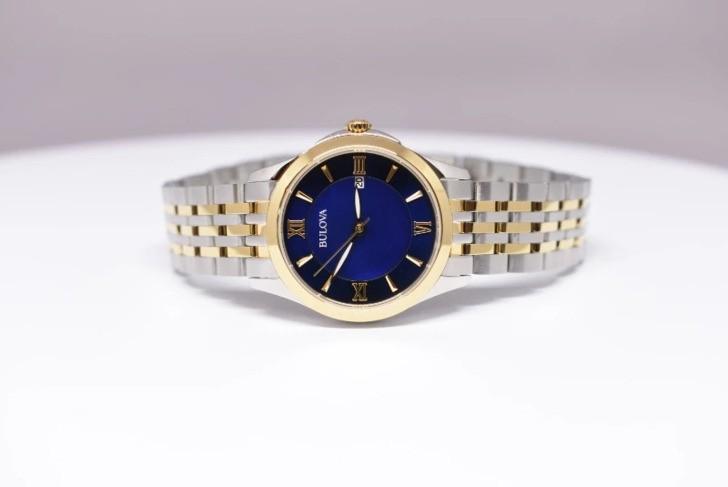 Đồng hồ Bulova 98M124 Thiết kế ấn tượng với mặt số xanh - Ảnh 3