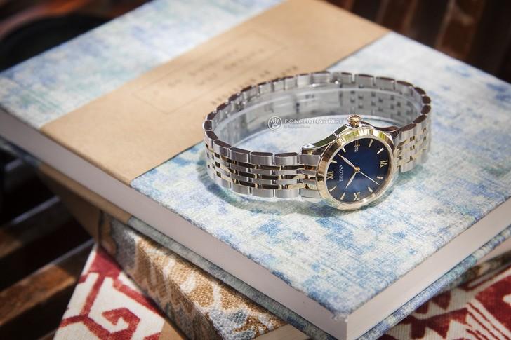 Đồng hồ Bulova 98M124 Thiết kế ấn tượng với mặt số xanh - Ảnh 1