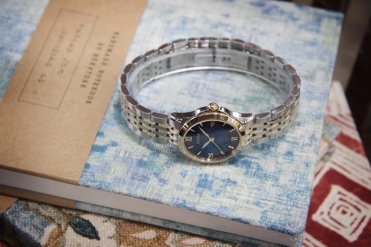 Đồng hồ Bulova 98M124 Thiết kế ấn tượng với mặt số xanh - Ảnh 5