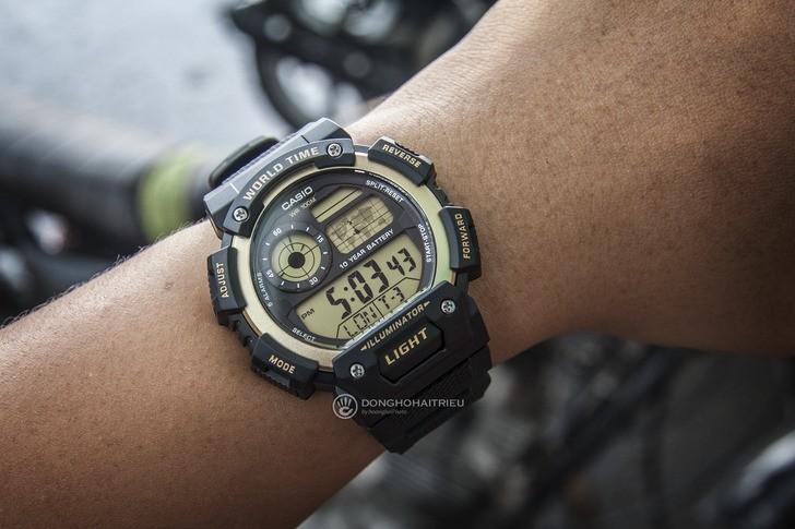 Đồng hồ Casio AE-1400WH-9AVDF giá rẻ, thay pin miễn phí - Ảnh 3