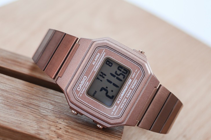 Casio B650WC-5ADF đồng hồ điện tử tông màu hồng trẻ trung - Ảnh 1