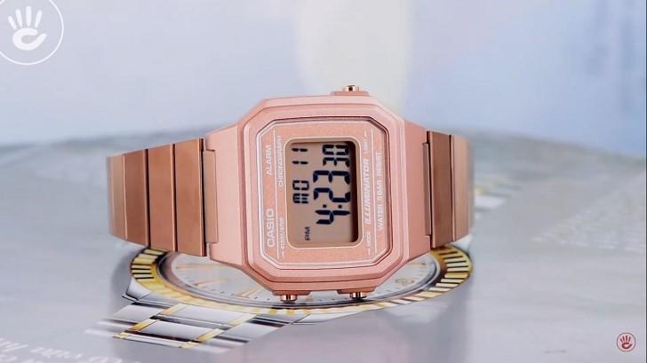 Casio B650WC-5ADF đồng hồ điện tử tông màu hồng trẻ trung - Ảnh 2