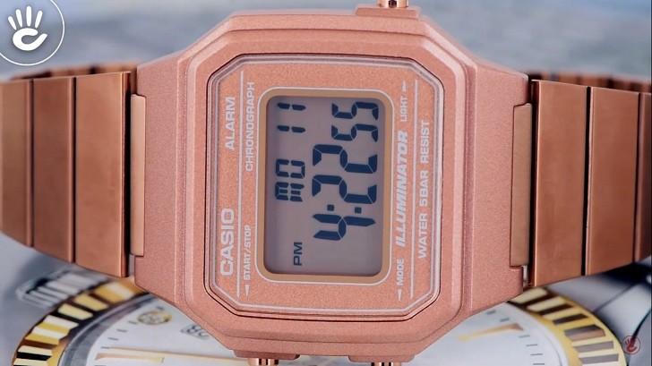 Casio B650WC-5ADF đồng hồ điện tử tông màu hồng trẻ trung - Ảnh 5