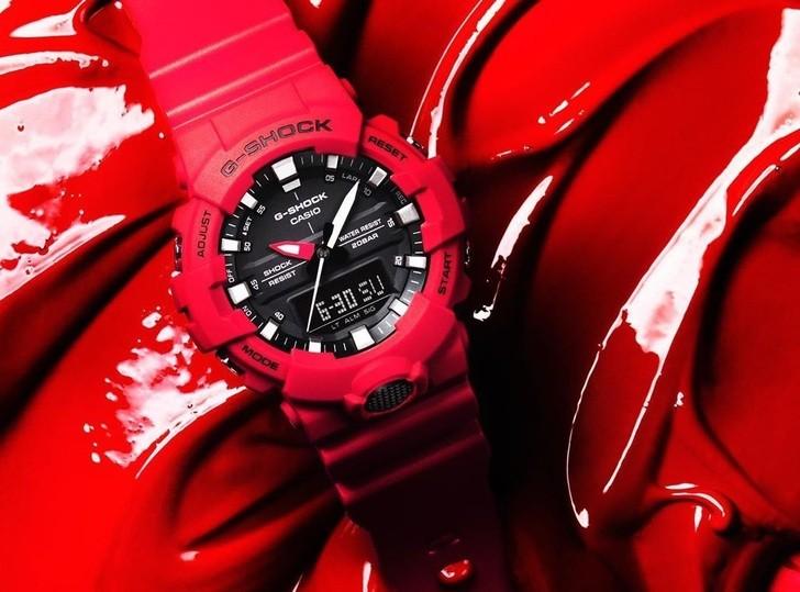Đồng hồ G-Shock GA-800-4ADR giá rẻ, free thay pin trọn đời - Ảnh 1