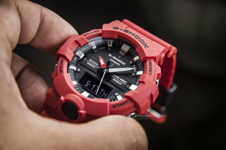 Đồng hồ G-Shock GA-800-4ADR giá rẻ, free thay pin trọn đời - Ảnh 2