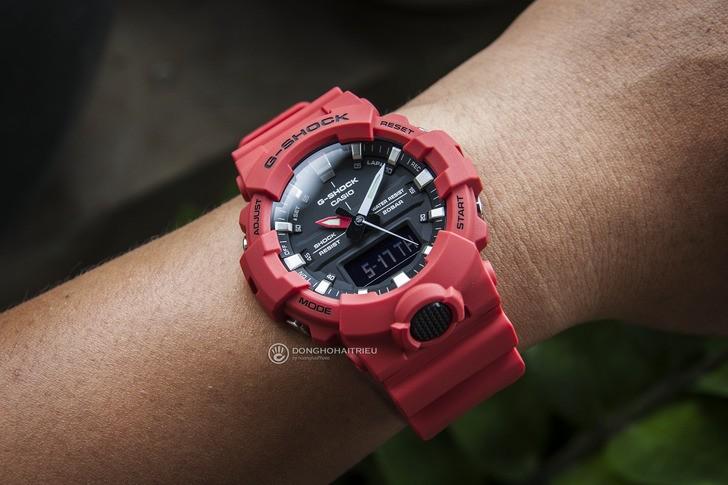 Đồng hồ G-Shock GA-800-4ADR giá rẻ, free thay pin trọn đời - Ảnh 3