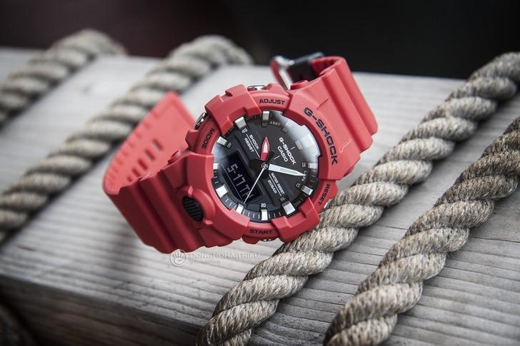 Đồng hồ G-Shock GA-800-4ADR giá rẻ, free thay pin trọn đời - Ảnh 4