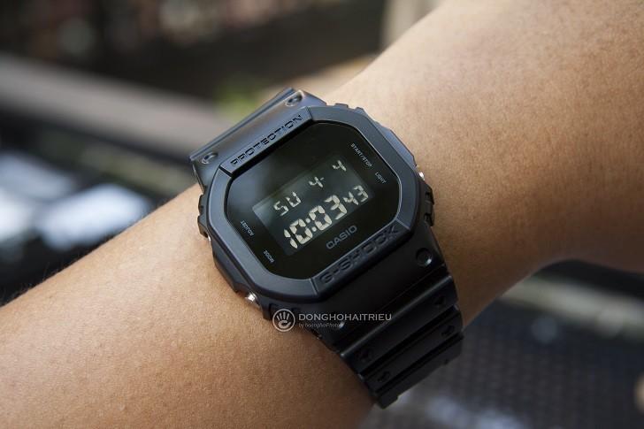 Đồng hồ G-Shock DW-5600BB-1DR chống nước 200m, bơi lặn - Ảnh: 4
