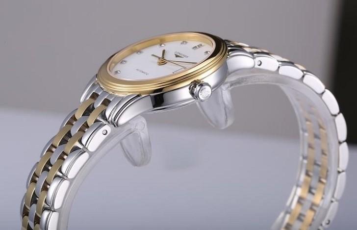 Đồng hồ Longines L4.274.3.27.7 siêu mỏng, đính kim cương - Ảnh: 1