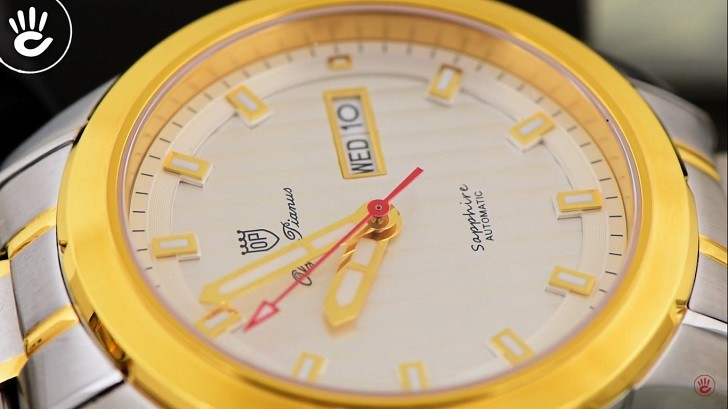 Đồng hồ OP 993AGSK-T-6 kính Sapphire, dây demi sang trọng - Ảnh 2