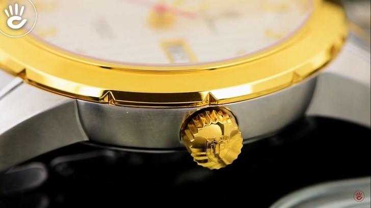 Đồng hồ OP 993AGSK-T-6 kính Sapphire, dây demi sang trọng - Ảnh 3