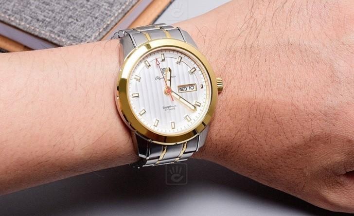 Đồng hồ OP 993AGSK-T-6 kính Sapphire, dây demi sang trọng - Ảnh 5