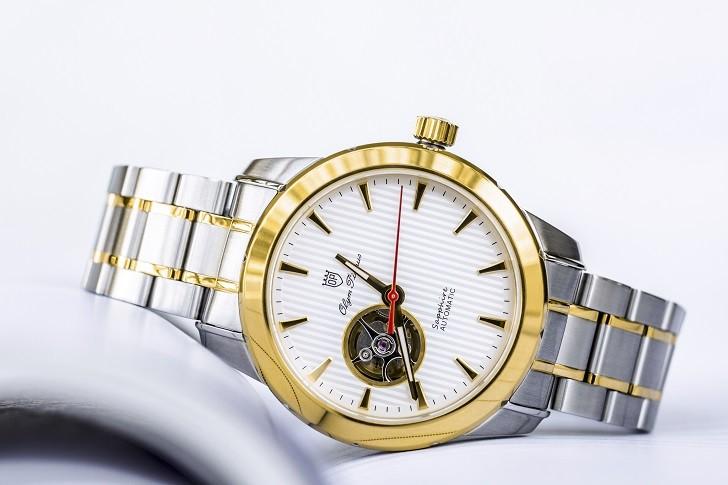 OP 993AGSK-T-8 chưa đến 5 triệu cho đồng hồ cơ kính Sapphire - Ảnh 1