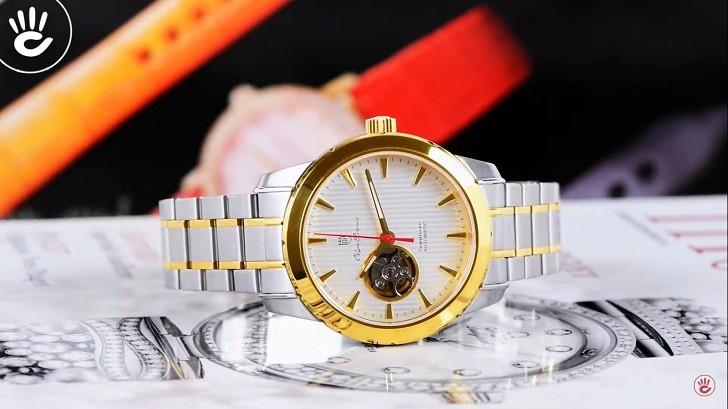 OP 993AGSK-T-8 chưa đến 5 triệu cho đồng hồ cơ kính Sapphire - Ảnh 3