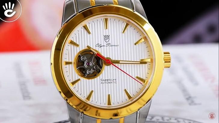 OP 993AGSK-T-8 chưa đến 5 triệu cho đồng hồ cơ kính Sapphire - Ảnh 6