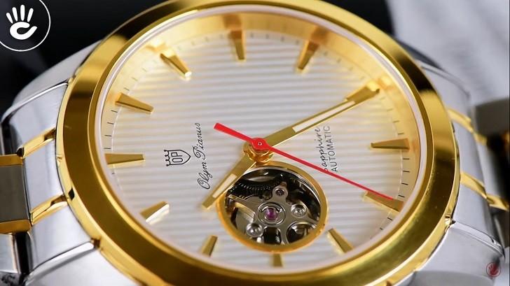 OP 993AGSK-T-8 chưa đến 5 triệu cho đồng hồ cơ kính Sapphire - Ảnh 5