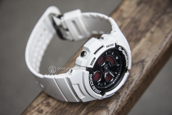 G-Shock AW-591SC-7ADR: Hướng Dẫn Chỉnh Giờ, Bật Auto Light - 3