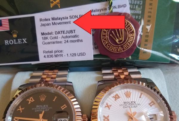 Thực Hư Đồng Hồ Rolex Malaysia Là Gì, Hàng Miễn Thuế Hay Hàng Giả Japan Movement